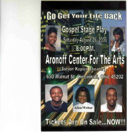 GO GET YOUR LIFE BACK, the stageplay