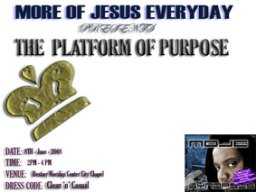 the Platform Of Purpose