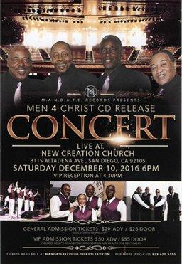 Men 4 Christ CD Release Concert